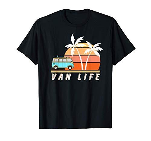 Beach Van Life Autocaravana apenado Vintage Retro Vanlife Camiseta