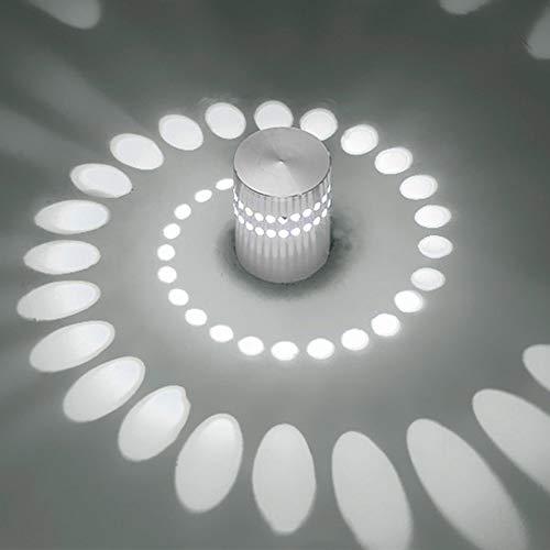 LED Lámpara de Pared Apliques Pared metal Interior Moderno 360 grados Blanco frio 3W espiral agujero pared lámpara KTV montaje en superficie para Dormitorio pasillo sala comedor corredor bar
