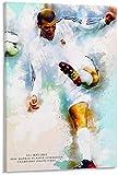 CAPTIVATE HEART Toile oeuvre Peinture 40x60cm sans Cadre Zinedine Zidane HD Affiche Peinture décorative Toile Mur Art Salon Affiches Chambre Peinture