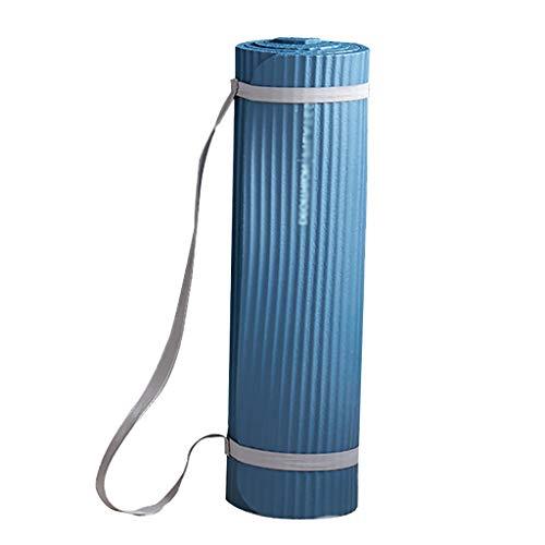 WYH Gruesa Estera de Yoga Antideslizante de Goma Textured Yoga Mat Superficie y óptima amortiguación for Las Mujeres Gruesas de alineación (Color : Blue)