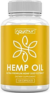Hemp Oil Capsules - Best Natural Pure Hemp Seeds Extract for Pain Relief Anti Anxiety Anti Inflammatory Stress Sleep Support Raw Herbal Supplements Omega 3 6 9 - Non GMO 120 Capsules