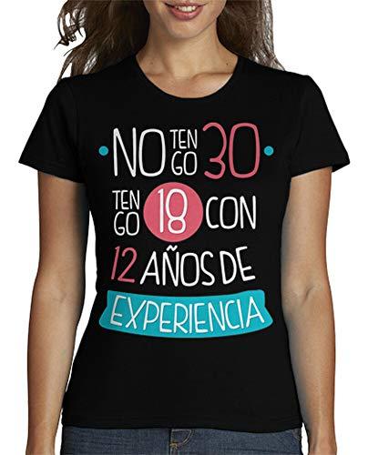 latostadora - Camiseta No Tengo 30 1989 para Mujer Negro L