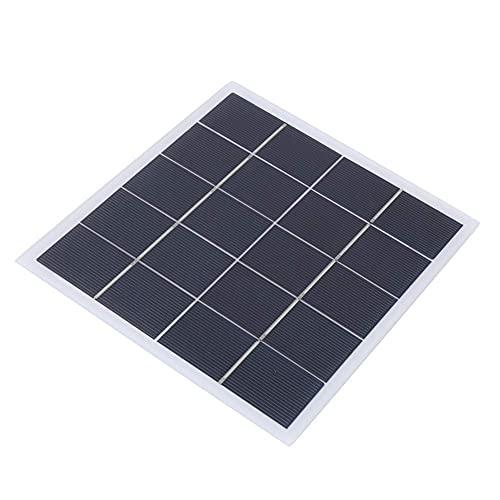 Weikeya Panel Solar, silicio cristalino Hecho 6.5V 0-800mA Panel Solar portátil