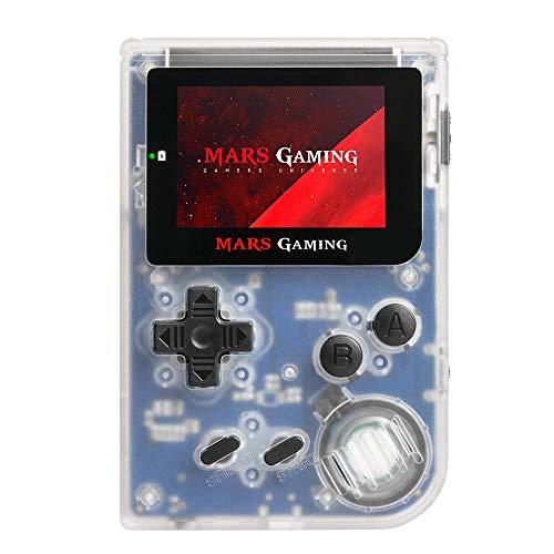 MarsGaming MRB - Consola Retro Portátil (151 Juegos pre-instalados, LCD 2', microSD, emulador principal GBA, secundario NES, SNES y GB), blanco