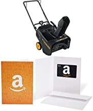 Poulan Pro 961820015 136cc Single Stage Snow Thrower, 21-Inch with $25 Gift Card bundle