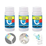 Wild Tornado Pipe Dredge Deodorant, Powerful Sink and Drain Cleaner Openers, Quick Foaming Toilet Cleaner Chemical Powder Agent for Kitchen Toilet Pipeline Quick Cleaning Tool(3PCS)
