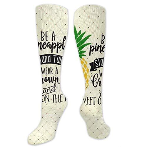 Lässige modische Socken für Damen, Teenager, medizinisch/Stillen/Wandern/Flug/Fitness – Be A Ananas Strümpfe