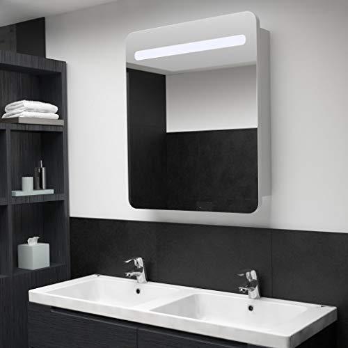 UnfadeMemory LED Bad Spiegelschrank Badezimmerspiegel mit Beleuchtung Badezimmer Hängeschrank Wandschrank mit Spiegel Badezimmerspiegel Wandmontage (68 x 11 x 80 cm)