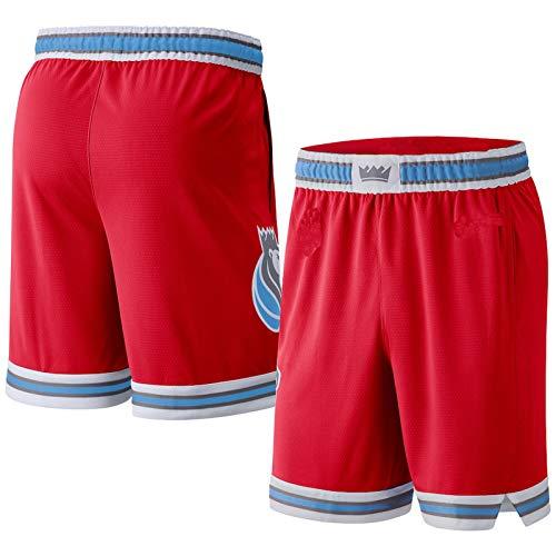 ERERT pantalones cortos hombre Sacramento Rojo,Kings 2019/20 City Edition Swingman Pantalones cortos de baloncesto para hombre