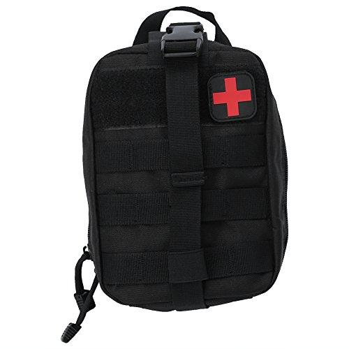 Tactical Erste Hilfe Tasche, Outdoor Medical Erste Hilfe Tasche Klettern Notfall Etui Utility Case(Schwarz)