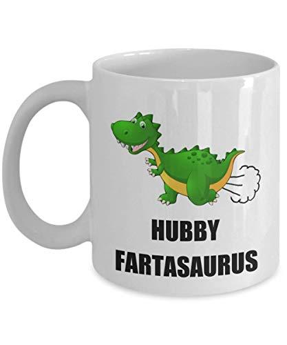 N\A cumpleaños Taza de Dinosaurio Fartasaurus para Esposo, Esposo, día del Padre, Hombres, él, Navidad, Personalizado, Jurassic World Park, Taza de café T-Rex