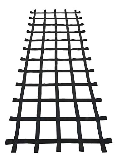Fong 10 ft X 4 ft Climbing Cargo Net Black - Playground Cargo Net - Climbing Net for Swingset - Indoor Climbing Net - Climbing Ladder