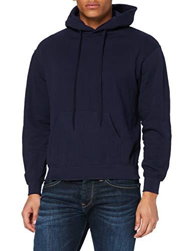FRUIT OF THE LOOM Men's Classic Hooded Sweatshirt, Deep Navy, S UK