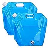 EKKONG 10 Litre Faltbarer Wasserbehälter, Trinkwasser Behälter, Faltkanister Trinkwasser, Trinkwasser Tasche, Wasserbehälter mit Hahn für Outdoor Camping BBQ Festival (Blau)