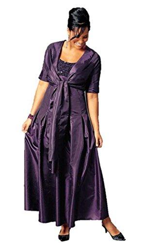 Abendkleid mit Pailletten lila von MIM Gr. 42
