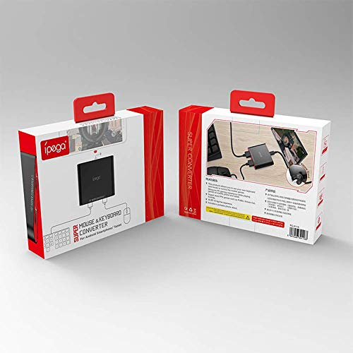 Convertitore per tastiera e mouse wireless Mcbazel iPega con portachiavi gratuito, per dispositivi Android (PG-9116)
