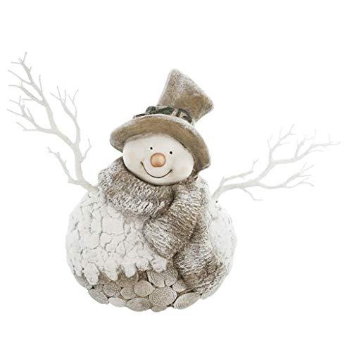 SCDZS Escultura LED muñeco de nieve árbol de Navidad ornamento con muñeco de nieve iluminado - adornos LED