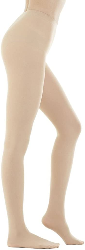 DZSbestdeal Women's 280 Denier Opaque Solid Color Footed Pantyhose Tights