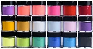 Acrylic Powder, Aimik 18 Colors Acrylic Nail Art Tips UV Gel Powder Dust Design..