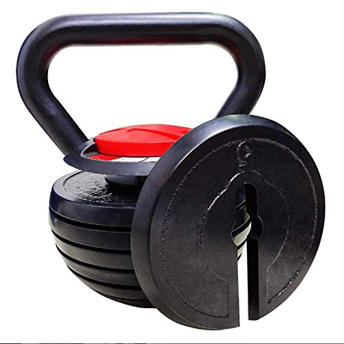 Verstelbare kettlebell, 5-20 pond, antislip, fitnessapparatuur voor mannen en vrouwen om squats, dunne armen, gewichtheffen en krachttraining te oefenen