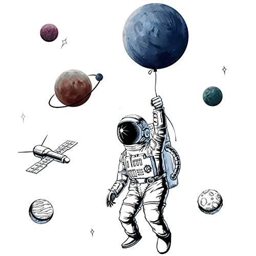 LCYGOME Astronauta Pegatinas de Pared Decorativo Adhesivo Pegatinas Pared de Astronauta de Pared Decorativos Infantiles Pegatinas Decorativas para Salón Oficina Baño Cocina Dormitorio