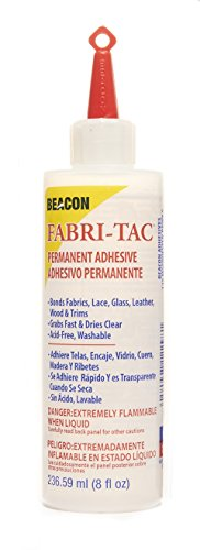 Beacon Adhesives FT8OZBOT12 Fabri-Tac Permanent Adhesive, 8-Ounce clear