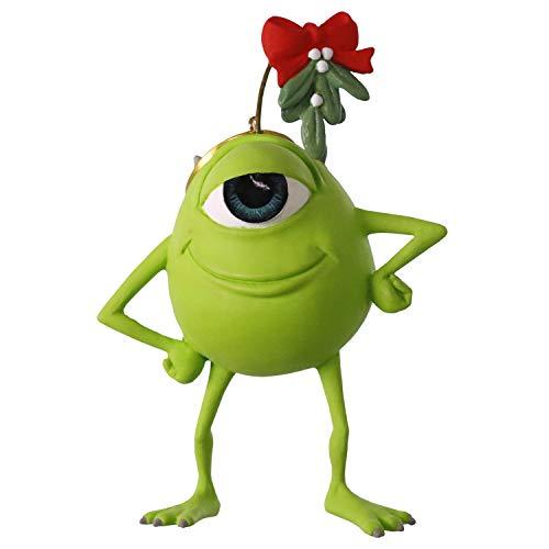 Hallmark Keepsake Christmas Ornament 2019 Year Dated Disney Pixar Monsters, Mistletoe Mike