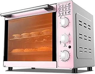 Wghz Horno eléctrico multifunción de sobremesa 4 Tubos Control de Temperatura de Subida y Bajada Incluyendo Bandeja de Horno y Parrilla 1600w Potencia de cocción 33L Rosa