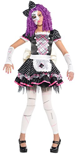 Amscan Disfraz de mueca Rota gtica para nias de Halloween (4-6 aos)