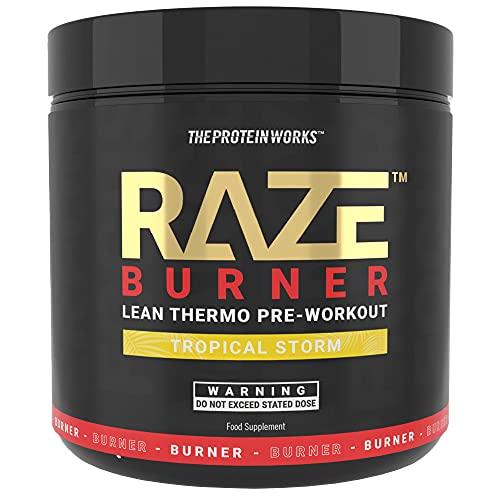 The Protein Works Raze Burn Pre-Workout Powder   Advanced Pre-Workout   Tropical Storm 300 g