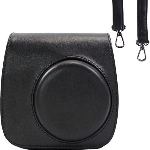 Taschen/Hülle für Fujifilm Instax Mini 9/8 / 8+ Instant Film Kamera Ice Blue. Vintage Compact Schutztasche. Mit verstellbarem Schultergurt und Tasche. Von SAIKA