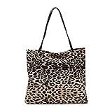 TENDYCOCO Bolso de las señoras, bolso de hombro de leopardo coreano retro moda duradera gran capacidad salvaje bolso de compras femenino