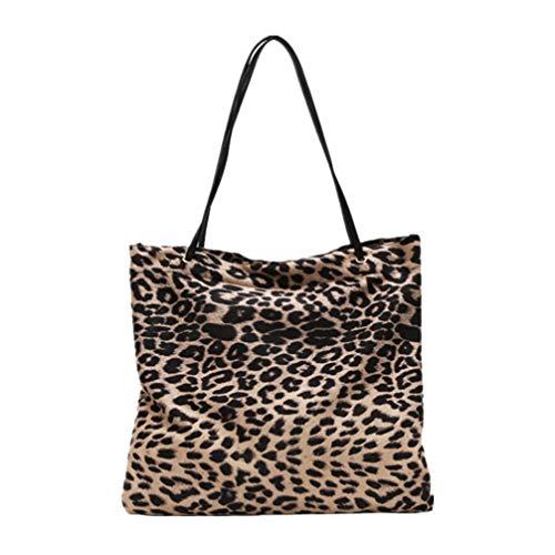 TENDYCOCO Bolso de las señoras, bolso de hombro de leopardo coreano retro moda duradera gran capacidad salvaje bolso de...
