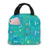 Medical Theme Nurse Lunch Bag Reusable Insulated Cooler Tote Box with Front Pocket