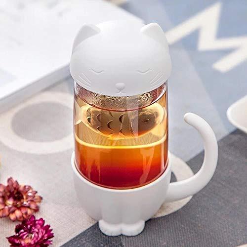 DYTJ-Mugs Style Tasses À Café, Tasse De Thé Singe Chat Infuseur Tasse Tasse Graminées Théière...
