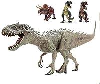 SanDoll恐竜 フィギュア リアル 模型 ジュラ紀 30㎝級 爬虫類 迫力 肉食 子供玩具 プレゼント ディスプレイ 返品安心保障付き (インドミナスレックス)