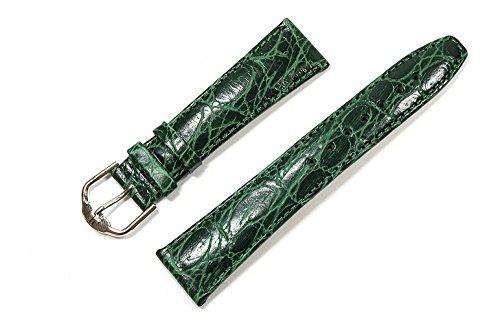 Jacques Lemans para Banda Reloj de Pulsera Piel Verde Oscuro 20mm Plata