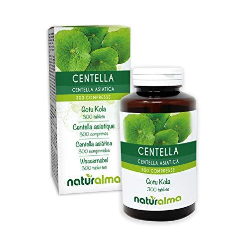 Centella (Centella asiatica) erba NATURALMA | 150 g | 300 compresse da 500 mg | Integratore alimentare | Naturale e Vegano