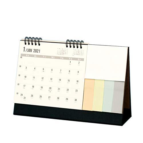 OMVOVSO Calendario De Escritorio 2021, Mejor Calendario De Mesa para Planificación Y Organización Páginas Mensuales Grandes Notas Adhesivas Calendario Mensual,Negro