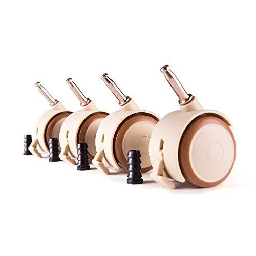 Liabb Ruedas Ruedas para Muebles 50 mm Ruedas giratorias para Cuna Anillo de Bloqueo Universal de 7 mm Ruedas de Transporte Super silenciosas con freno-50mm(2 in)