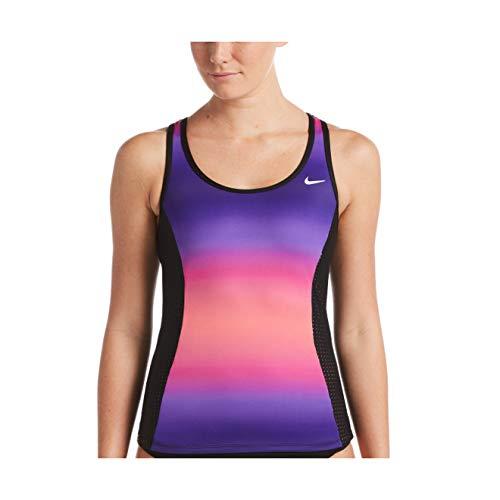 Nike Spectrum Tankini mit Schlüssellochrücken, weiblich - Pink - Small