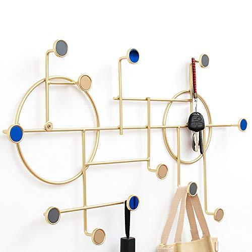 AI HUI Kreativ Dekorativ Kleiderhaken Runden Eisenkunst Multifunktion Wand-Garderobe Türhängeleiste Speicher anzeigen Flur Garderobenleiste