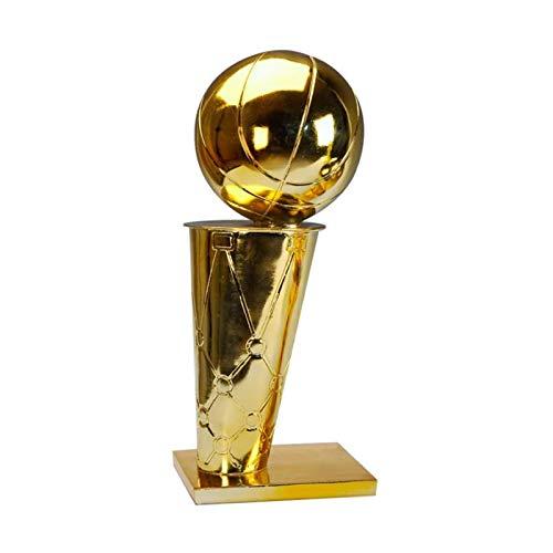 Huachaoxiang Baloncesto Resina Recubrimiento Trofeo Ornamentos, Campeonato Trofeo Competencia Regalos Personalizados Custom Baloncesto Fans Regalos,Oro
