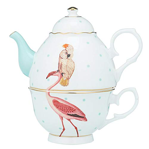 Yvonne Ellen One for Tea Set theepot en kopje Flamingo Flamingo