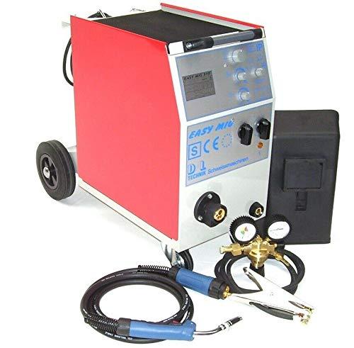 Schweißgerät 310A MIG Schutzgasschweißgerät Schutzgas Gerät 400 Volt Schweißmaschine, MIG/MAG Schlauchpaket Brenner Druckminderer, AWZ