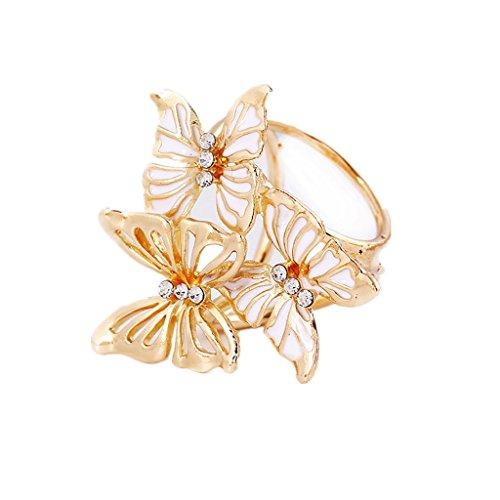 3-Schmetterling Schalring Tuchring Tuchhalter Tuchclip Tuchbrosche Scarf Clip - Weiß2