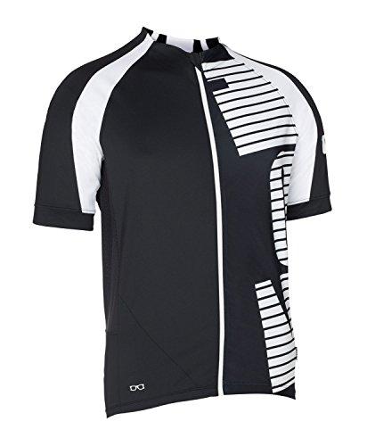 Ion Aerator bicicletta maglia corto nero/bianco 2016, nero, L ( 52 )