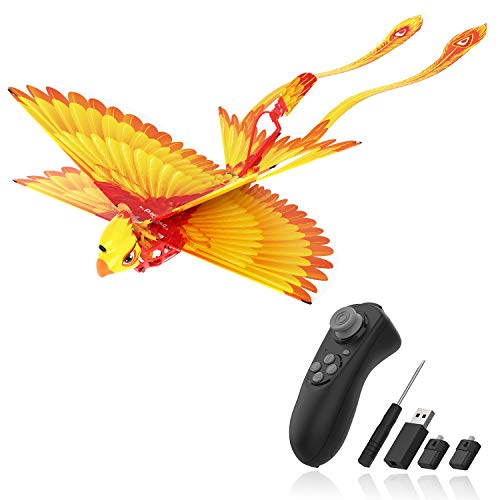 Go Go Bird Flying Toy,Mini RC Flying Bird Helicopters,Bionic Flying Bird,Mini Drone-Tech Toy,Remote Control Flying Toys,Easy Indoor Outdoor Small Flying Toys for Kids, Boys and Girls,Yellow