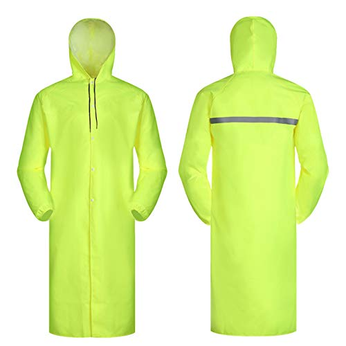 XTLXA Poncho Multifunctional Raincoat Waterproof and Windproof Poncho with Hood and Long Sleeves Water Proof Coat Light Raincoat (Color : Yellow, Size : L)