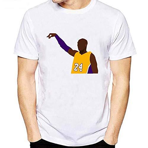 anking Damen-Trikot, Lässige Kurze Ärmel, Bequem Und Atmungsaktiv, Herren Trikot Lakers Kobe 1996-2016 Retired Gedenk T-Shirt Kobe Baumwolle 8-24 Basketball Aussehen Kleid Kurzarm Trikots,A,L